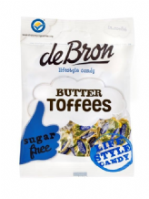 De Bron Sugar Free Butter Toffees 70g